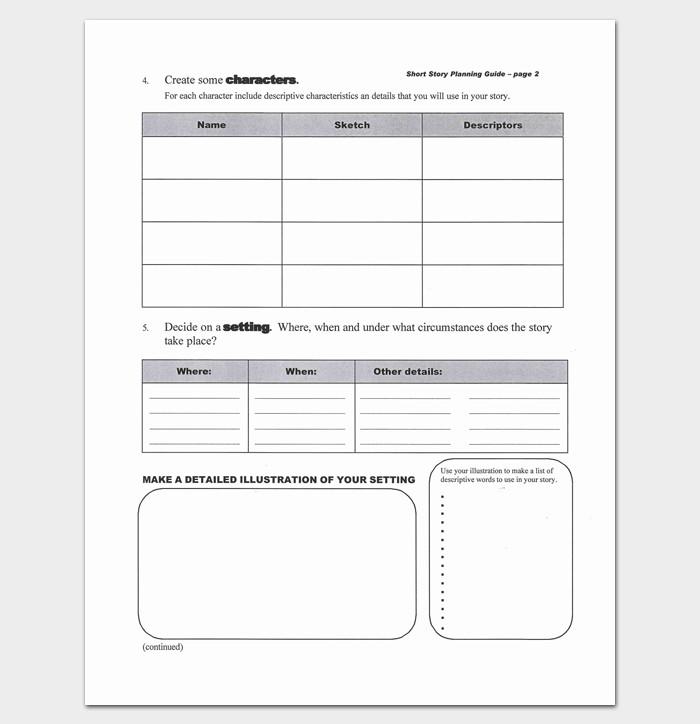 Short Story Outline Template Short Story Outline Template 7 Worksheets for Word Pdf
