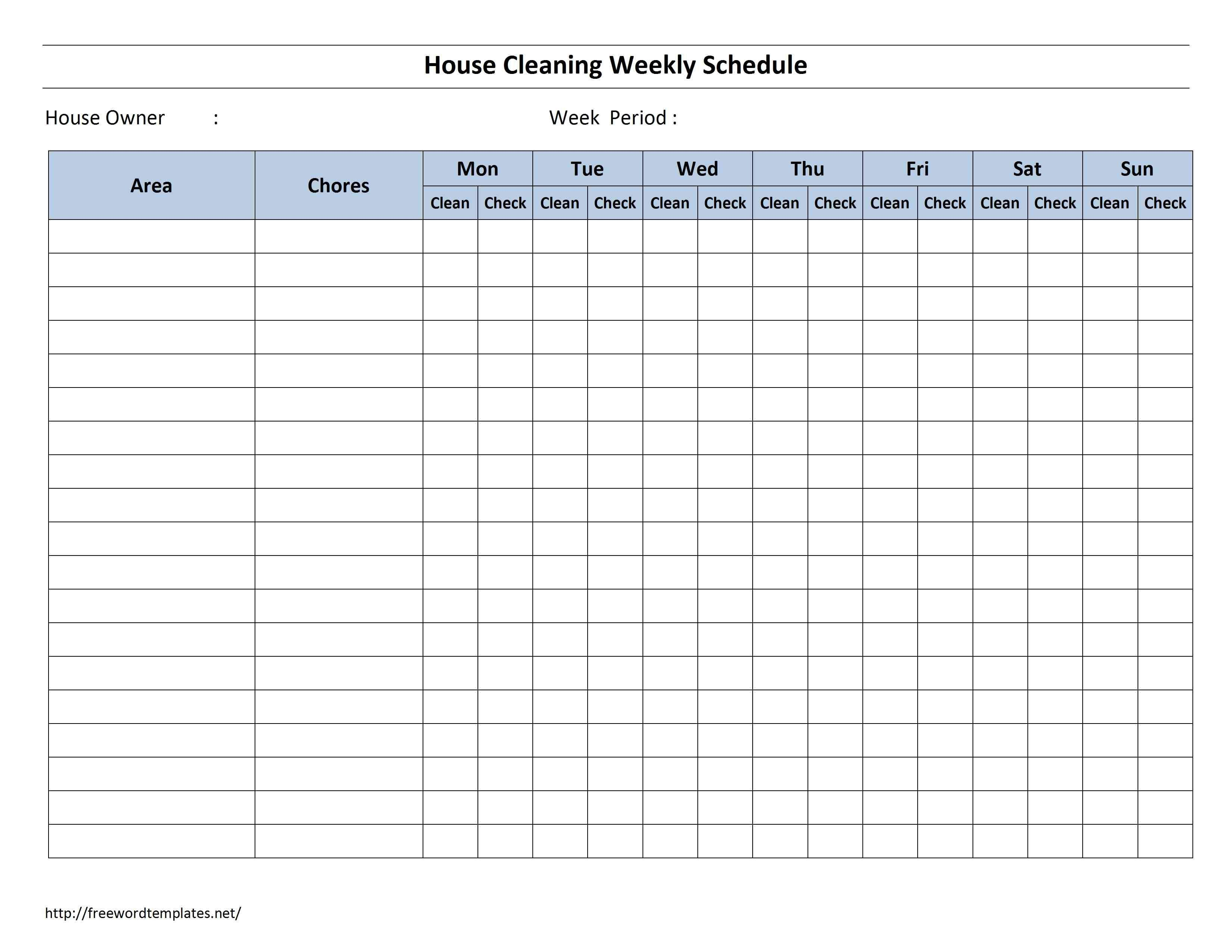 Shower Schedule Nursing Home House Cleaning organizing Pinterest