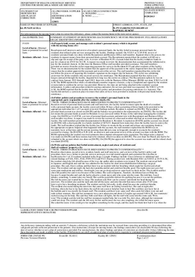 Shower Schedule Nursing Home Nursing Home Inspection form