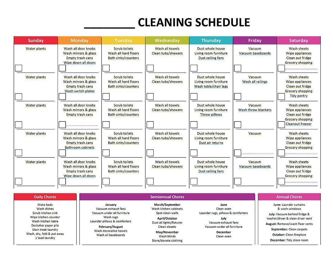 Shower Schedule Nursing Home Plete Housekeeping Printable Set – Gone Like Rainbows
