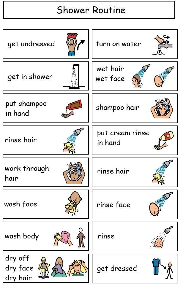 Shower Schedule Nursing Home Sample Shower Mini Schedule Visuals