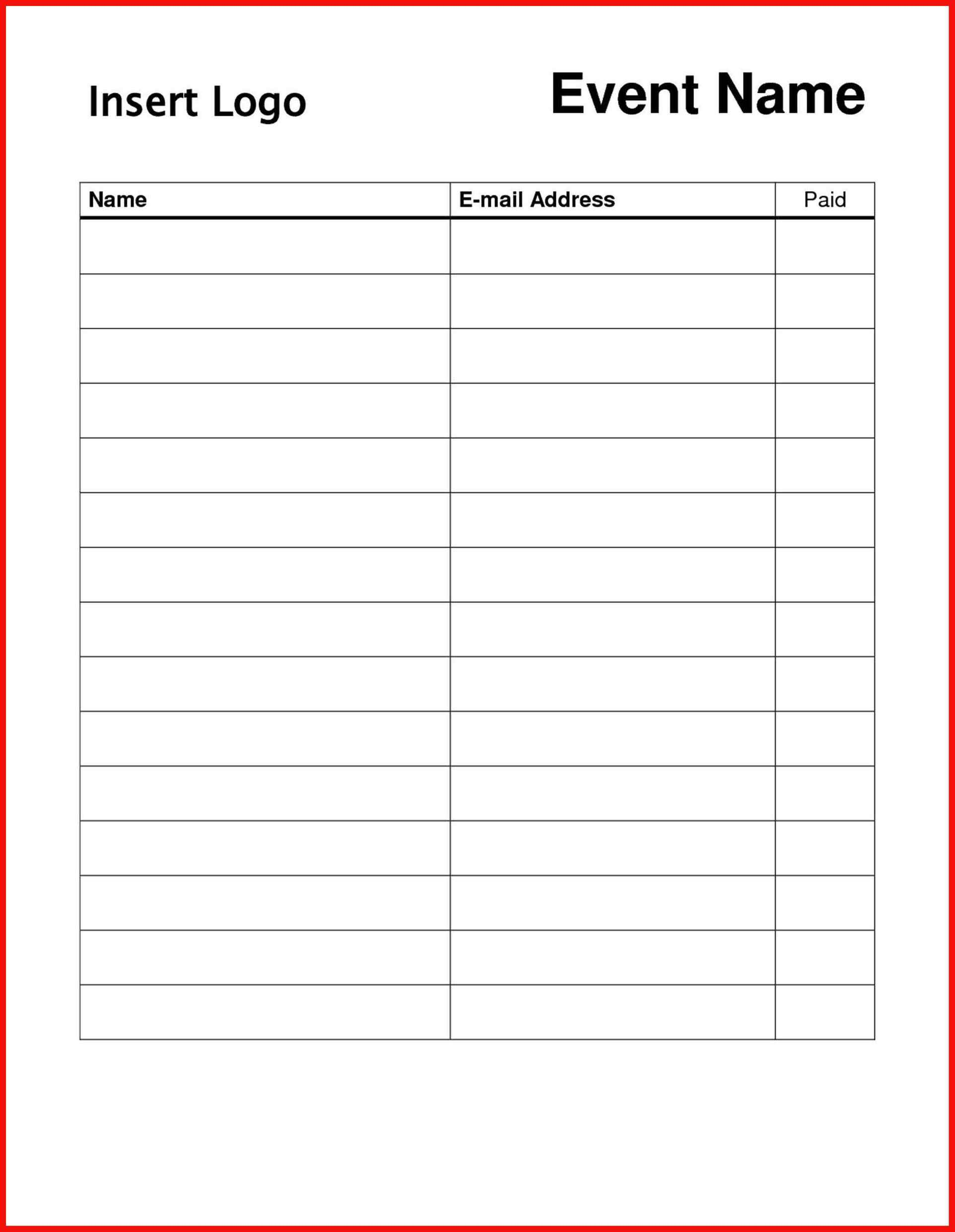 Sign In Sheet Template Doc Free Sign Templates Word