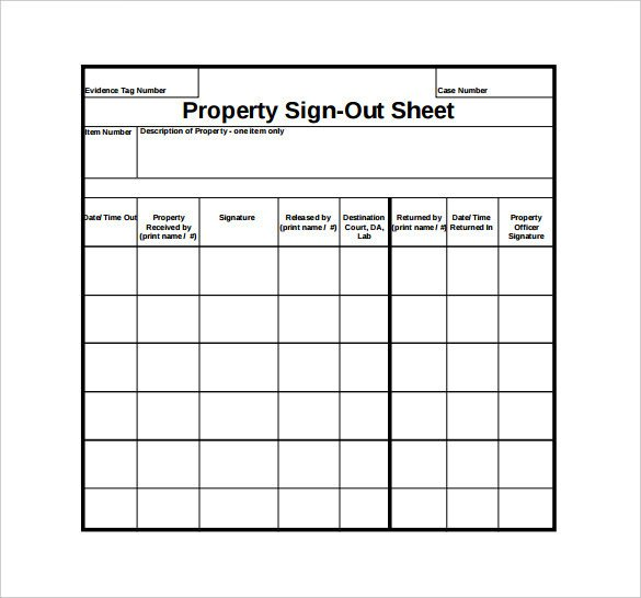 Sign Out Sheet Template Sign Out Sheet Template 14 Free Word Pdf Documents