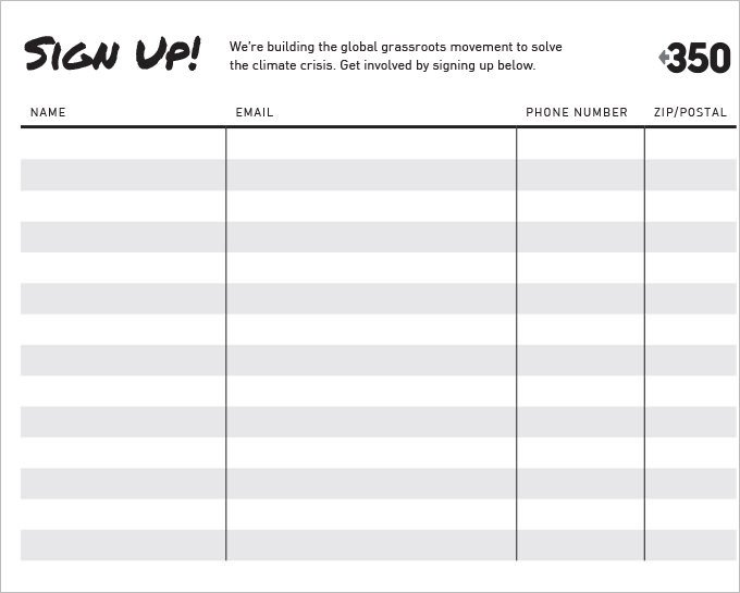 Sign Up form Template Sign Up Sheets 58 Free Word Excel Pdf Documents