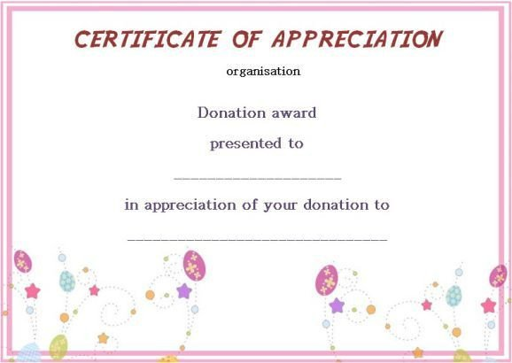 Silent Auction Certificate Template 22 Best Donation Certificate Templates Images On Pinterest