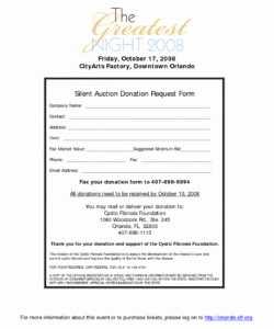 Silent Auction Certificate Template Silent Auction Certificate Template