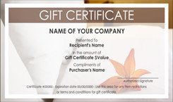 Silent Auction Gift Certificate Template House Cleaning Service Gift Certificate Templates