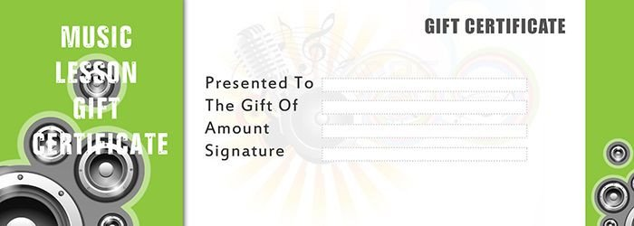 Silent Auction Gift Certificate Template Music Lesson Gift Certificate Template Free Gift