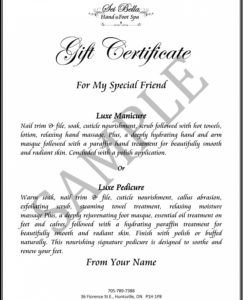 Silent Auction Gift Certificate Template Silent Auction Certificate Template