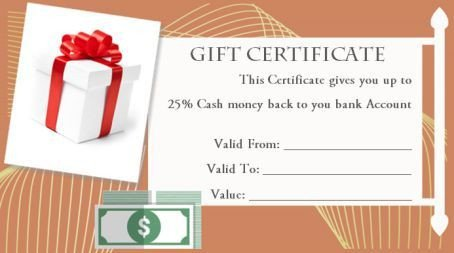 Silent Auction Gift Certificate Template Silent Auction Gift Certificate Templates
