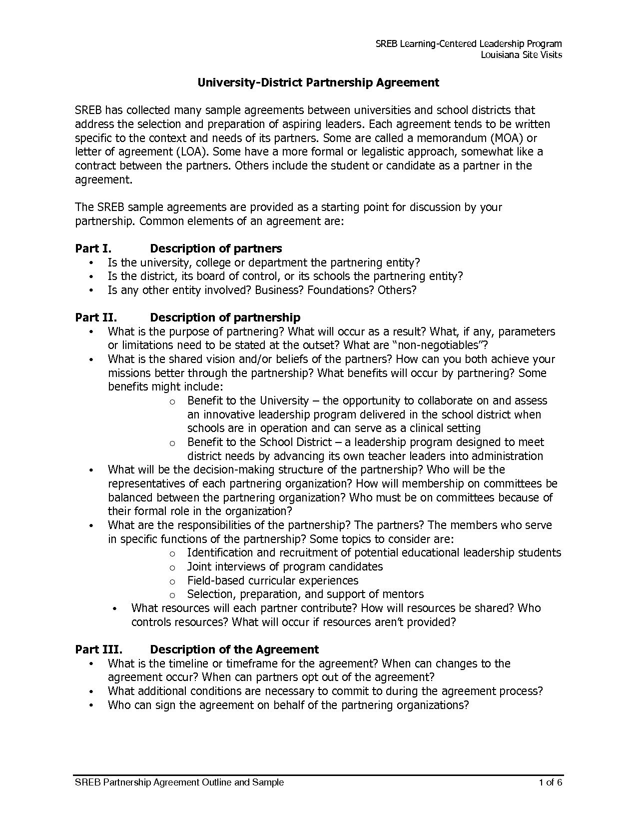 Silent Investor Agreement School Partnership Agreement Sample original Silent