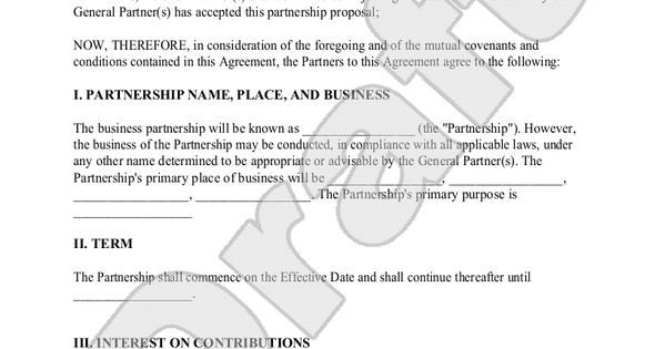 Silent Investor Agreement Silent Partnership Agreement Template with Sample
