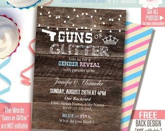 Silly String Gender Reveal Template Items Similar to Gender Reveal Party Printable Digital
