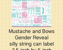 Silly String Gender Reveal Template Popular Items for Silly String On Etsy