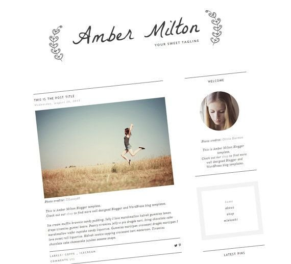 Simple Blogger Templates Free Clean Blogger Template Premade Blog Template