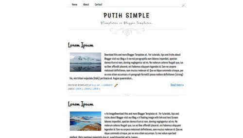 Simple Blogger Templates Free Putih Simple Blogger Template Btemplates