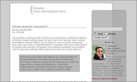 Simple Blogger Templates Free Saim S Blog May 2007