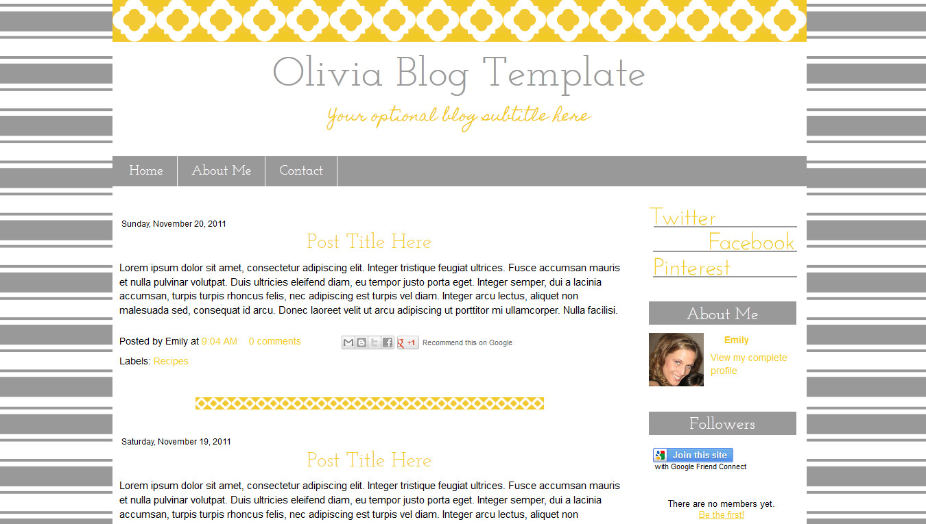 Simple Blogger Templates Free Simple Blogger Blog Templates Category