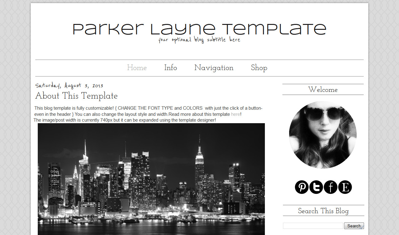 Simple Blogger Templates Free Simple Premade Blogger Template Grey