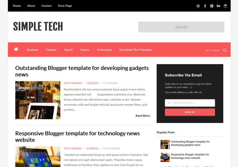 Simple Blogger Templates Free Simple Tech Blogger Template 2014 Free Download