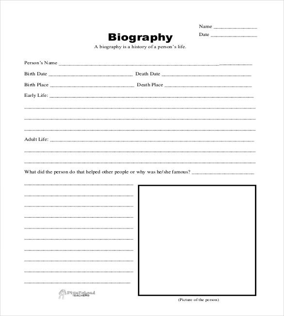Simple Character Bio Template 25 Biography Templates Doc Pdf Excel