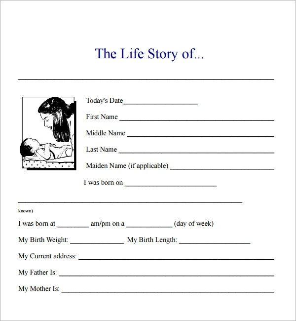 Simple Character Bio Template 7 Biography Samples Pdf Google Docs Apple Pages Word