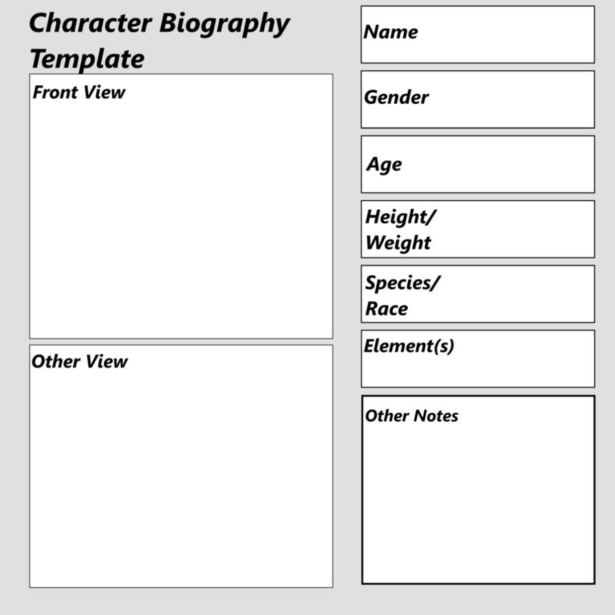 Simple Character Bio Template Character Bio Template
