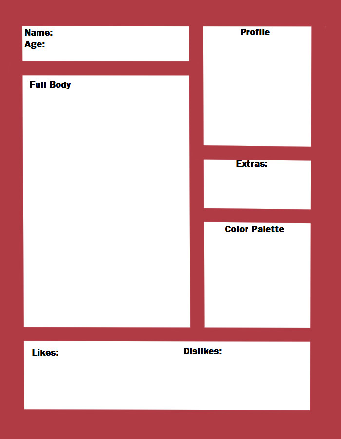 Simple Character Bio Template Simple Character Template by Kawaii Oekaki Chan On Deviantart