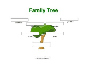 Simple Family Tree Template A Simple Full Color Three Generation Family Tree with
