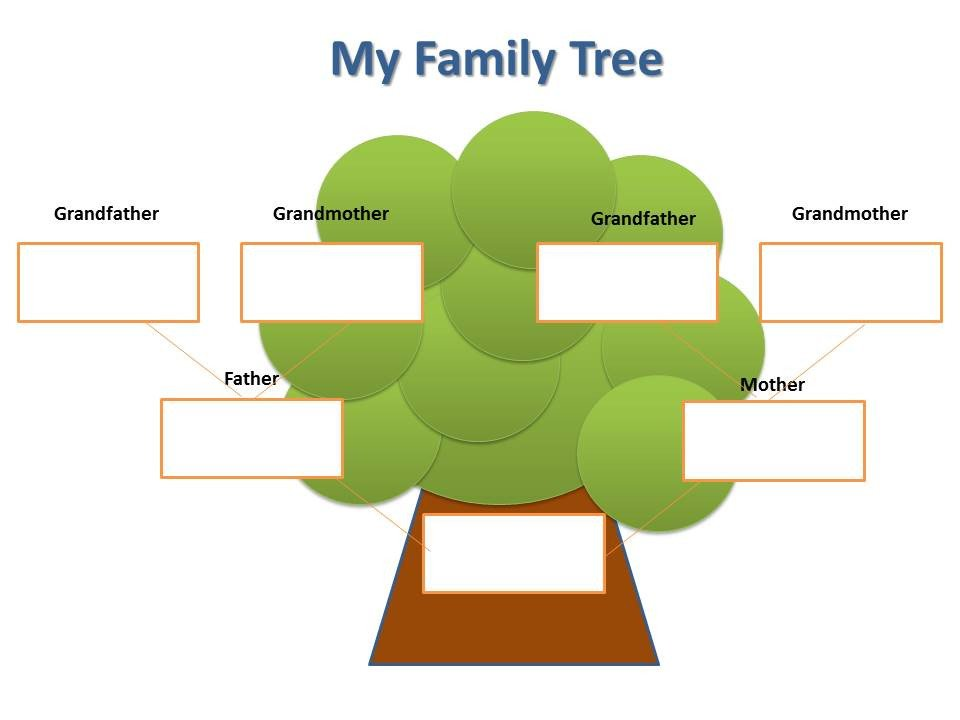 Simple Family Tree Template Blank Family Tree for Kids Clipart Best