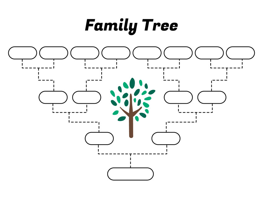 Simple Family Tree Template Simple Family Tree Template – Free Family Tree Templates