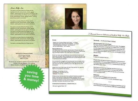 Simple Funeral Program Template Free Free Funeral Program Template