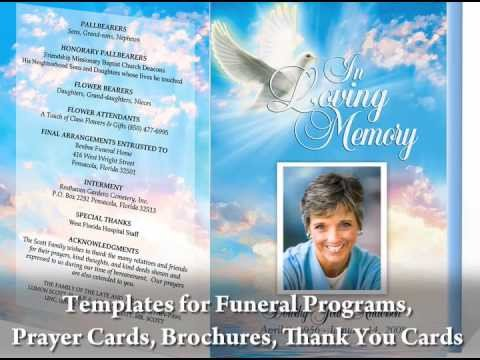 Simple Funeral Program Template Free Funeral Programs with Funeral Program Templates
