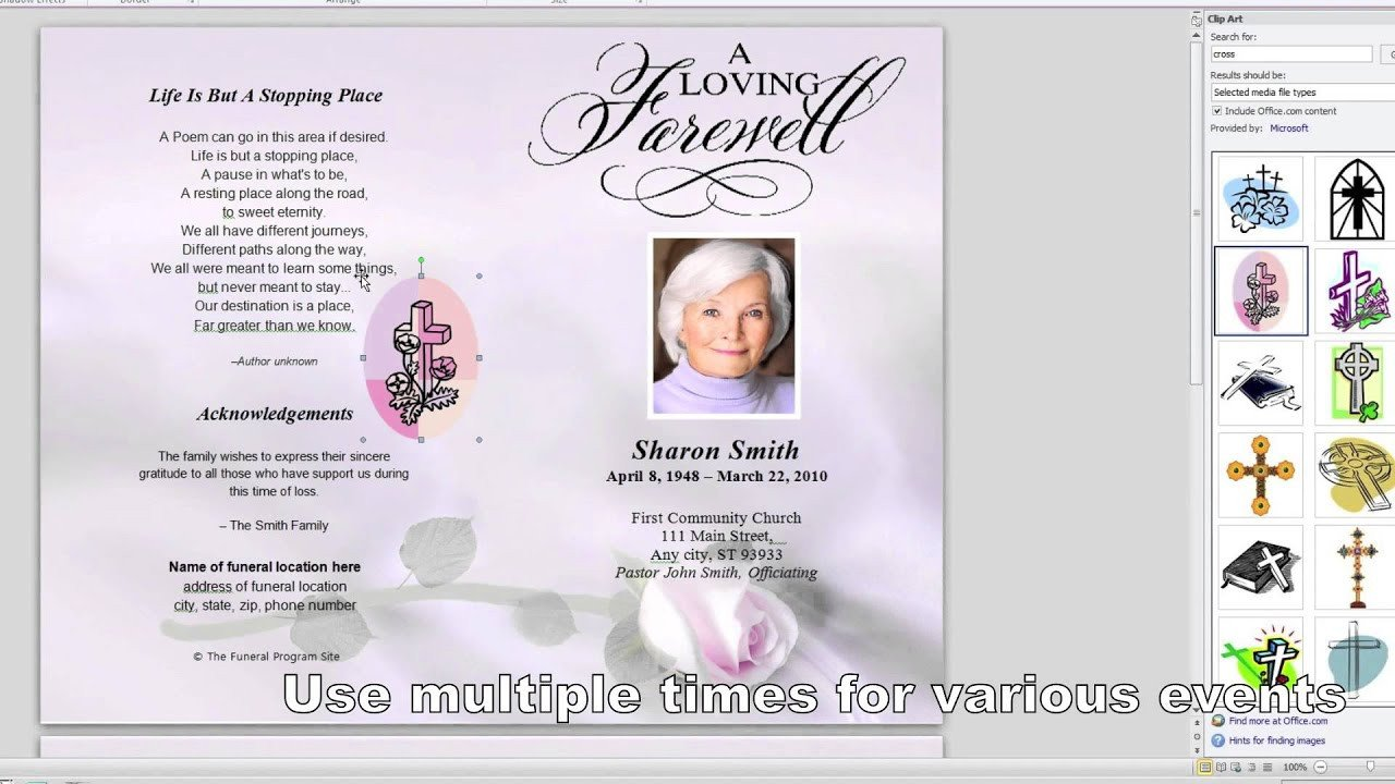 Simple Funeral Program Template Free How to Customize A Funeral Program Template