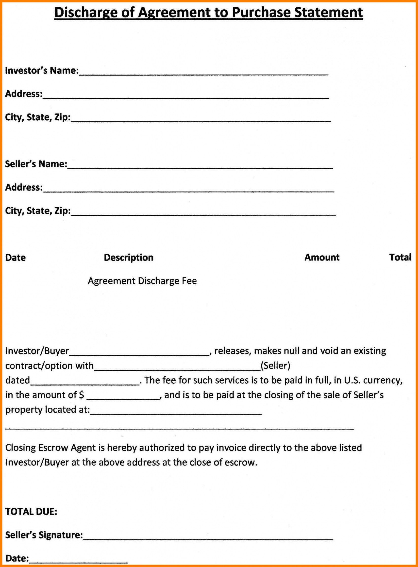 Simple Purchase Agreement Template Free Purchase Agreement Template
