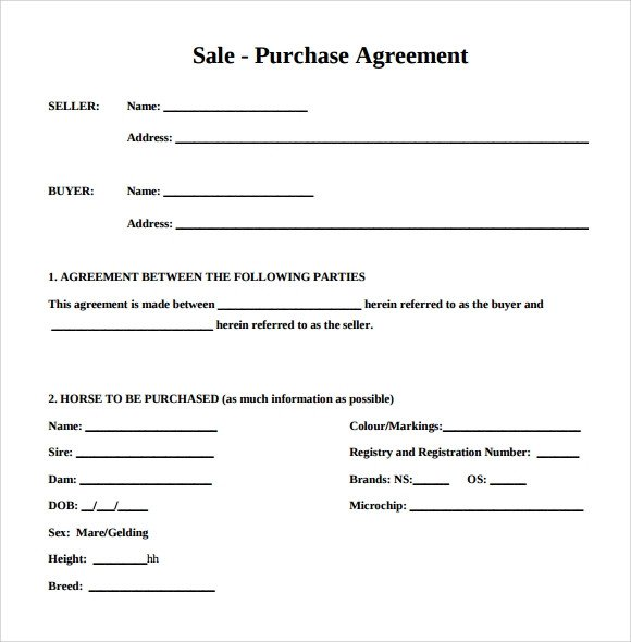 Simple Purchase Agreement Template Purchase Agreement 15 Download Free Documents In Pdf Word