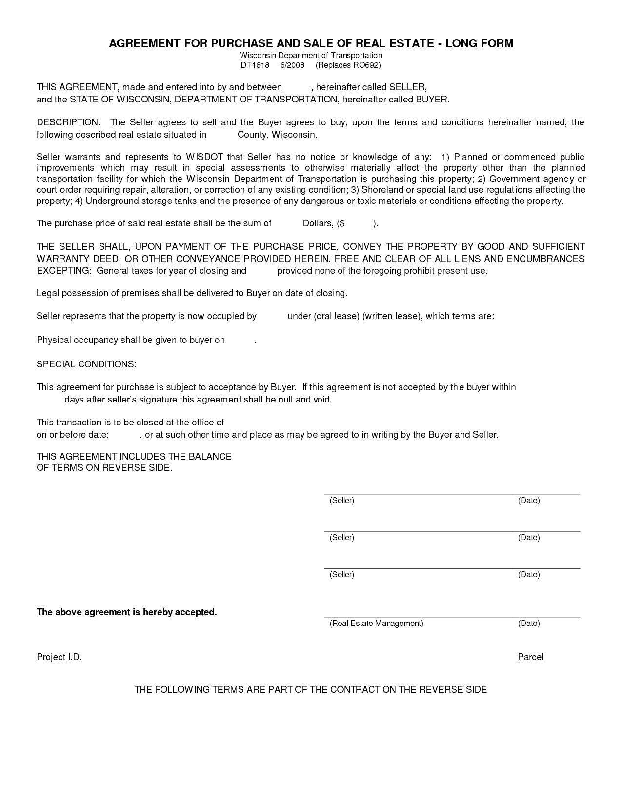 Simple Purchase Agreement Template Simple Land Purchase Agreement form
