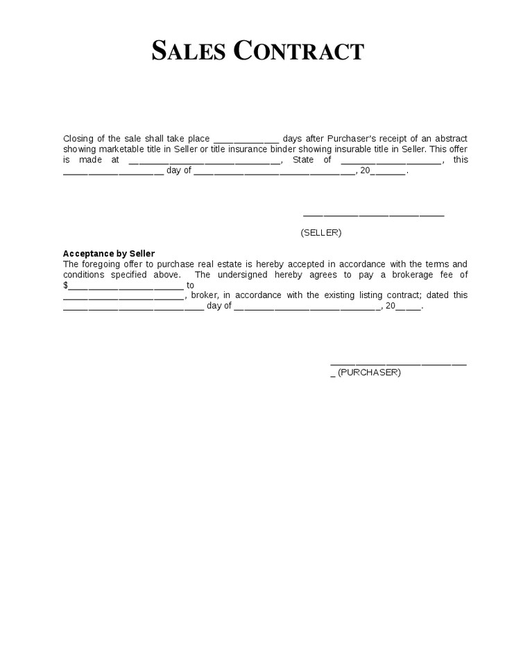 Simple Purchase Agreement Template Simple Sales Agreement