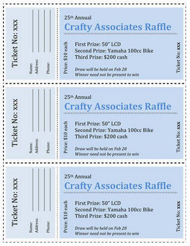 Simple Raffle Ticket Template 15 Free Raffle Ticket Templates In Microsoft Word Mail