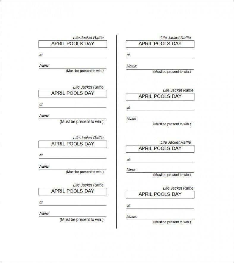 Simple Raffle Ticket Template 19 Sample Printable Raffle Ticket Templates Psd Ai