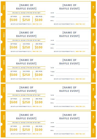 Simple Raffle Ticket Template 45 Raffle Ticket Templates