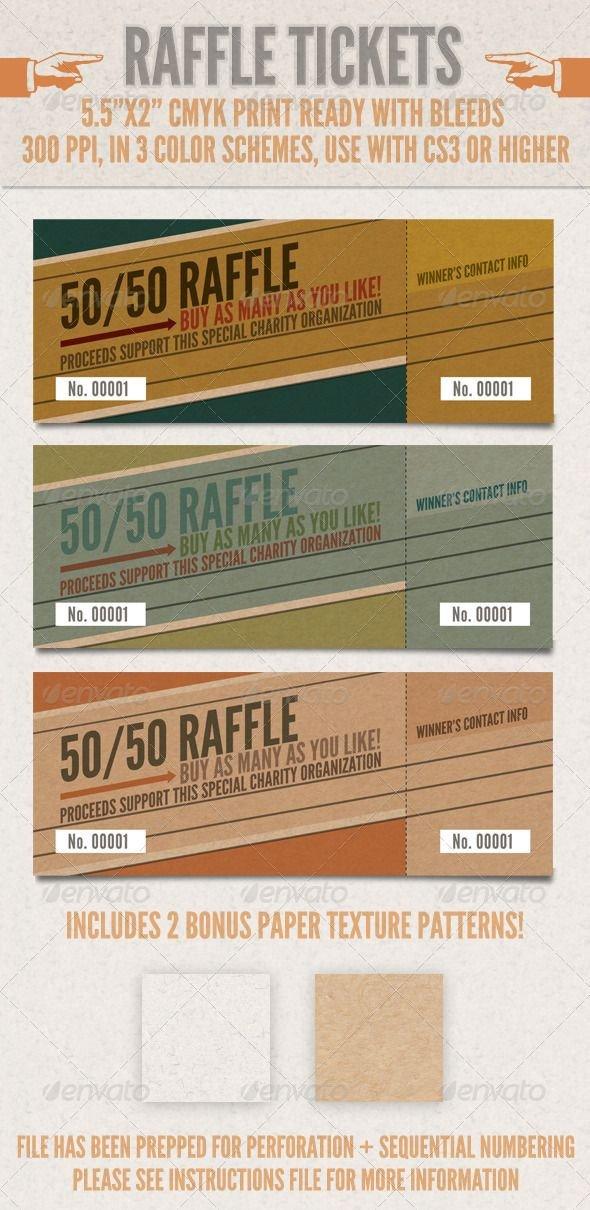 Simple Raffle Ticket Template 85 Best Raffle Ticket Templates & Ideas Images On Pinterest