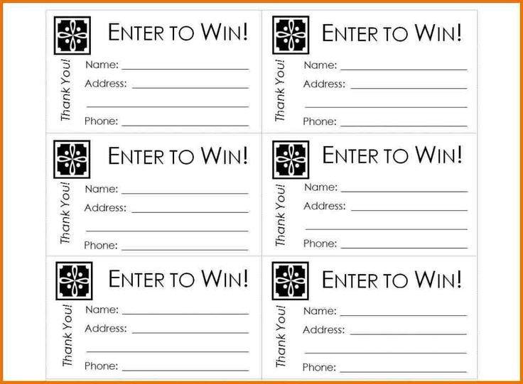Simple Raffle Ticket Template Free Printable Raffle Ticket Template Raffle Ticket