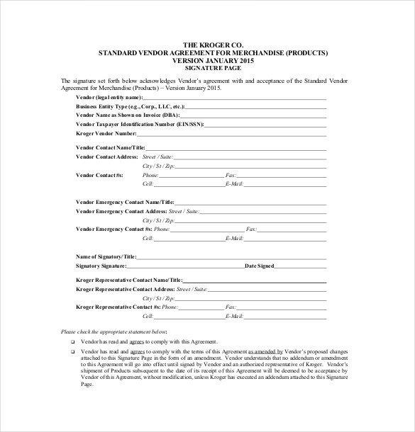 Simple Vendor Agreement Template Vendor Agreement Template – 28 Free Word Pdf Documents