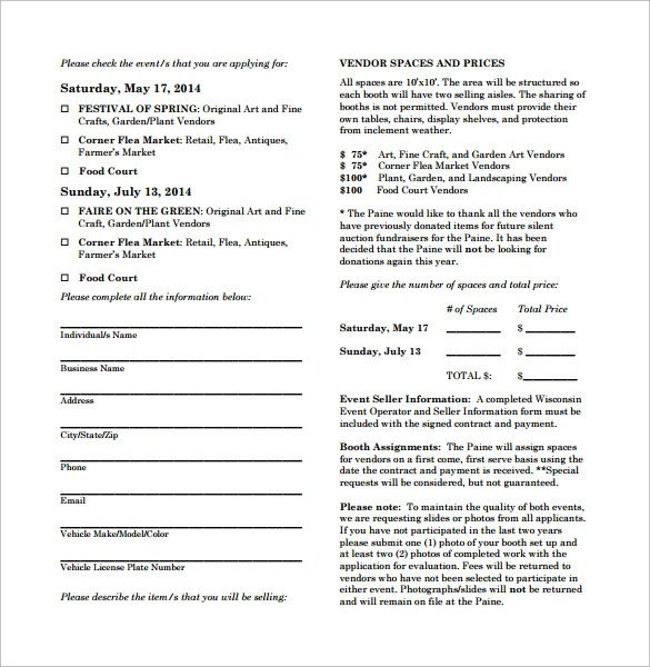 Simple Vendor Agreement Template Vendor Contract Template 9 Download Free Documents In