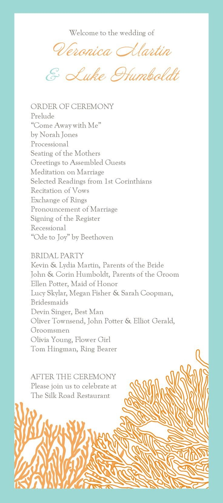 Simple Wedding Program Template 13 Best Images About Wedding Programs On Pinterest