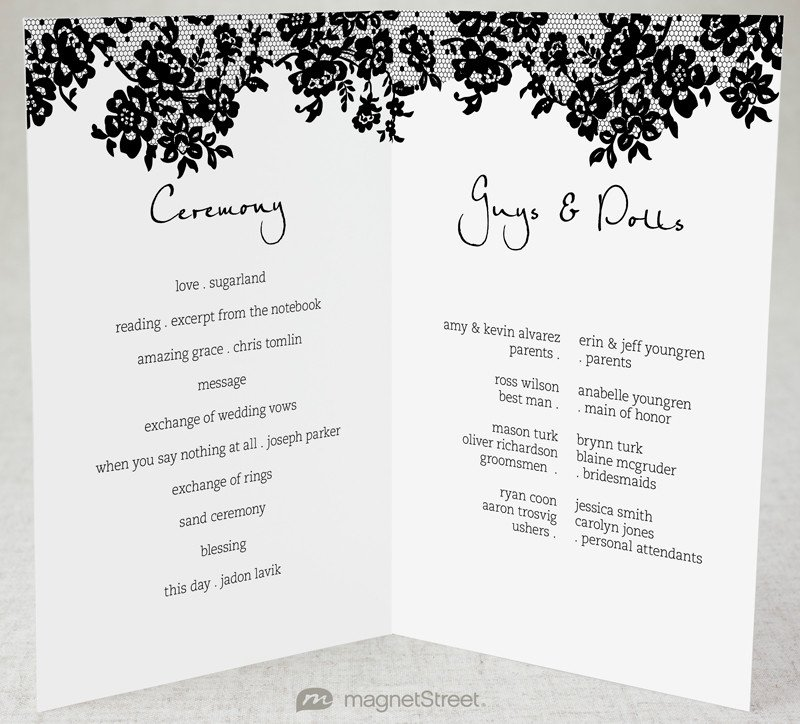 Simple Wedding Program Template 2 Modern Wedding Program and Templates