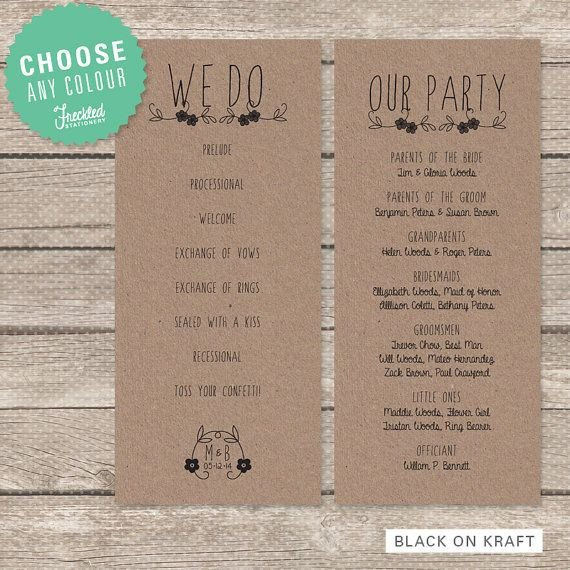 Simple Wedding Program Template 25 Best Wedding Programs Simple Ideas On Pinterest