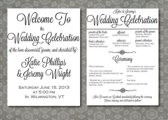 Simple Wedding Program Template 630 Best Wedding Bells Images On Pinterest