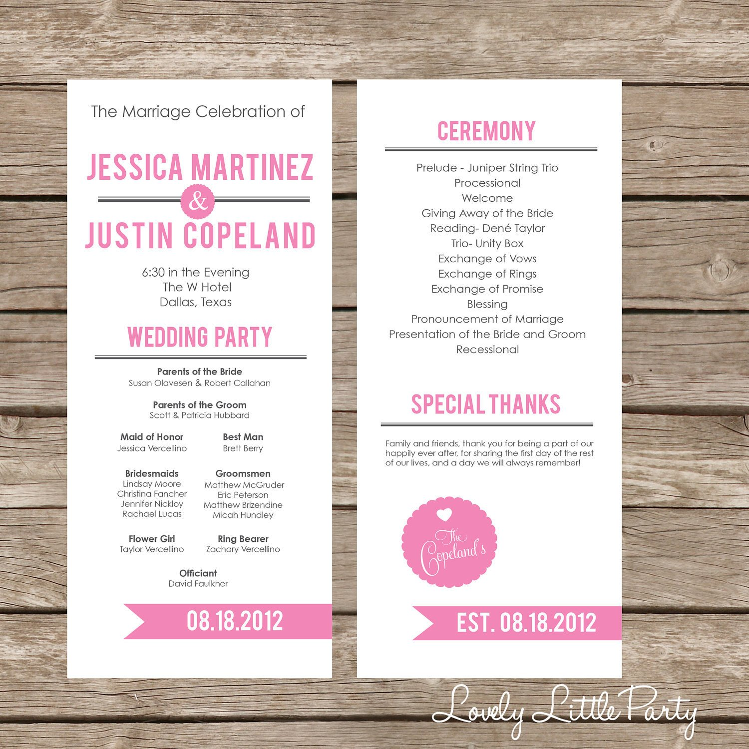 Simple Wedding Program Template Simple Ultra Modern Wedding Program Diy Printable Lovely